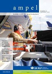Ampel-Ausgabe 35, September 2010 - Unfallkasse Rheinland-Pfalz