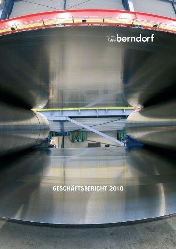 Bericht 2010 als PDF - in der Berndorf AG