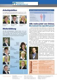 Te rm in e - Volksbank Wittgenstein eG