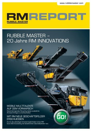 Rubble MasteR – 20 Jahre RM innoVations
