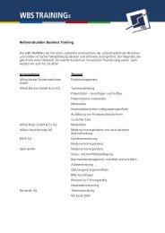 Referenzkunden Business Training WBS TRAINING AG