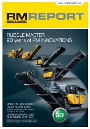 RUBBLE MASTER 20 years of RM INNOVATIONS