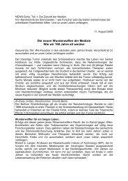 Die neuen Wunderwaffen der Medizin Wie wir 100 ... - Bionanonet!