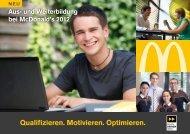 Seminarprogramm Training 2012 - Mc Donald's Deutschland