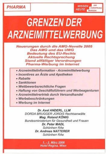 Pharma-Werbung im Internet - Dorda Brugger & Jordis