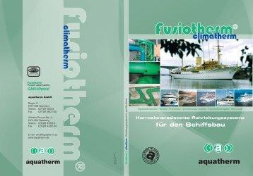 fusiotherm®-Rohrleitungssystem - aquatherm