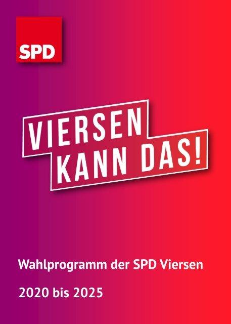 Wahlprogramm SPD Viersen 2020