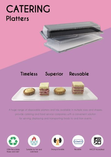 Reusable Catering Platter Range