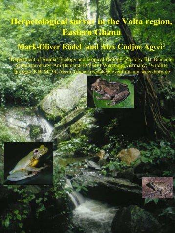 Herpetological survey in the Volta region, Eastern Ghana - Critical ...
