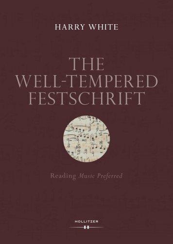 Leseprobe_Well-tempered Festschrift