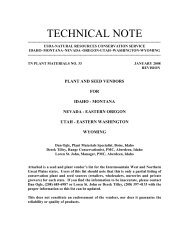Technical Note 33 - Plant Materials Program