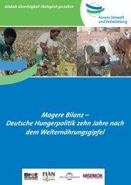 Magere - Forum Umwelt und Entwicklung