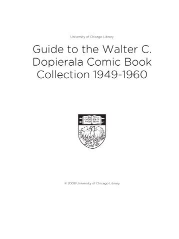 Guide to the Walter C. Dopierala Comic Book Collection 1949-1960
