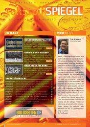 Rohstoff-Spiegel 05/2010 - Geheime Goldpolitik