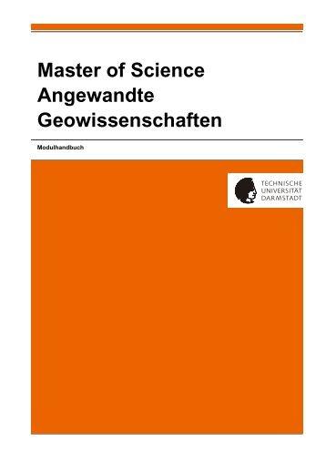 Master of Science Angewandte Geowissenschaften Modulhandbuch