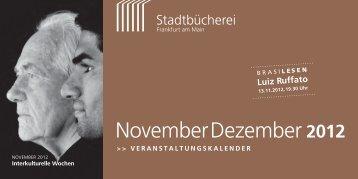 NovemberDezember 2012 - Frankfurt am Main