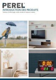 Introduction des produits - Tableau d'affichage, radio-réveils et stations météo
