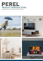 Product introductions - Scoreboard, clock radios & weather stations