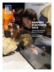 Espace des sciences : rapport d'activité 2019