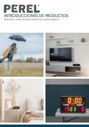 Introducciones de productos - Marcador, Radios de reloj y Estaciones meteorológicas