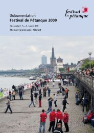Dokumentation Festival de Pétanque 2009 - Sur Place e.V.
