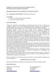 Die Einladung, das ausführliche Programm und das Anmeldeformular