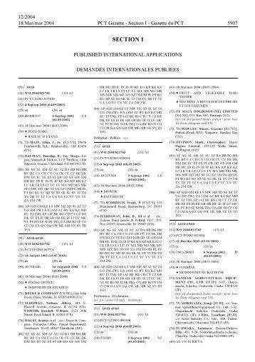 PCT/2004/12 - World Intellectual Property Organization