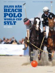Turniermagazin Julius Bär Beach Polo World Cup Sylt