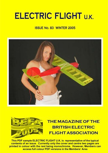 electric flight uk - British Electric Flight Association - Jan Bassett's