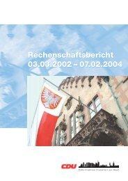 Rechenschaftsbericht 2003 - CDU Fraktion Frankfurt am Main