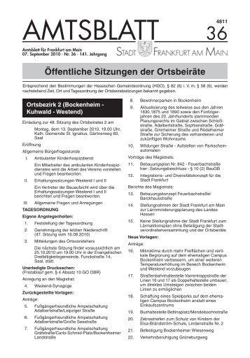 Amtsblatt Nr. 36/2010 S. 713 - 732 (pdf - Frankfurt am Main