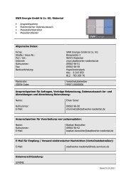 Ansprechpartner ab 01.10.2011 - Stadtwerke Rödental