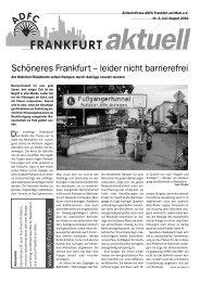 Landkarten Schwarz - ADFC Frankfurt
