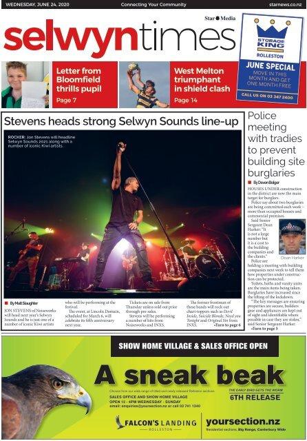Selwyn Times: June 24, 2020