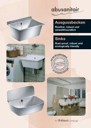 Ausgussbecken Sinks - Abu-plast
