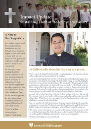 Impact Update: Sustaining Faith at Holy Spirit Seminary