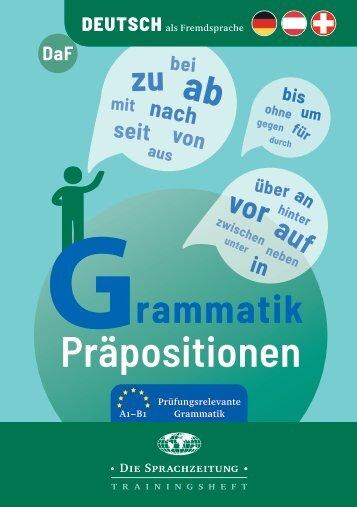 Grammatik Präpositionen