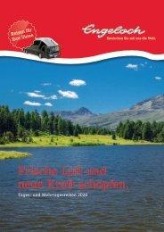 Engeloch Reiseprogramm Sommer Herbst 2020