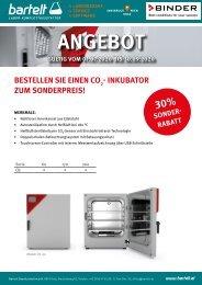 BINDER CO₂-Inkubator zum Sonderpreis!