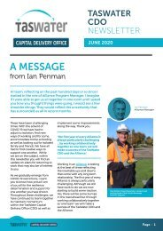 TasWater CDO Newsletter June 2020