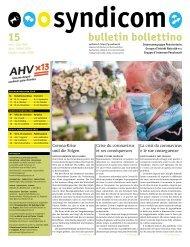 syndicom Bulletin / bulletin / Bollettino 15
