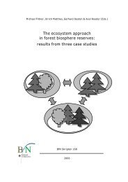 The ecosystem approach in forest biosphere reserves: results from ...