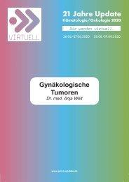 Gynäkologische Tumoren _ Dr. med. Anja Welt