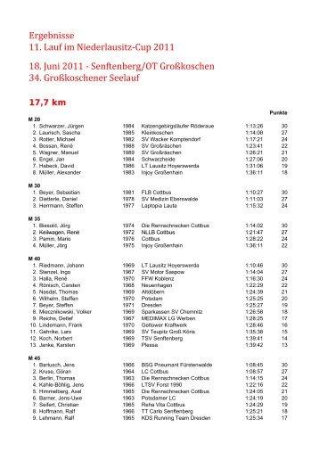 34. Großkoschener Seelauf vom 18.06.2011 - Niederlausitzcup ...
