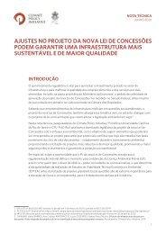 Ajustes no projeto da nova lei de concessões podem garantir uma infraestrutura mais sustentável e de maior qualidade