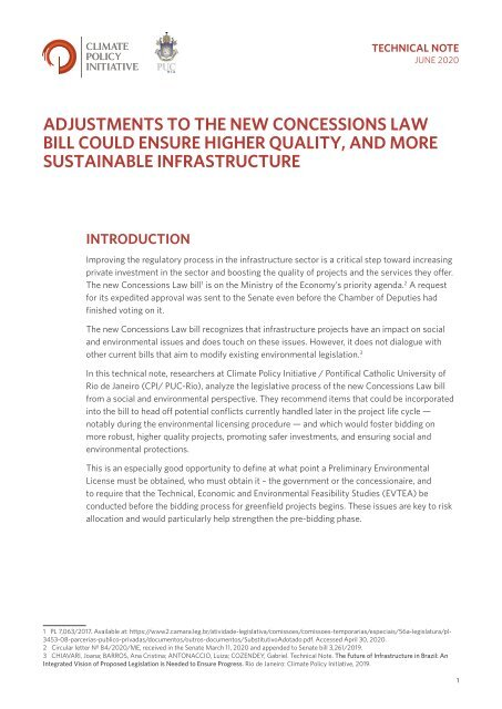 Adjustments to the New Concessions Law Bill Could Ensure Higher Quality, and More Sustainable Infrastructure