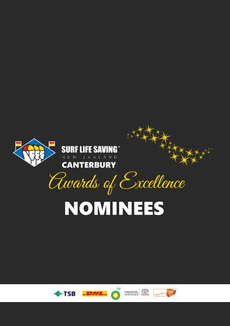 2020 SLSNZ Canterbury Awards of Excellence Nominees Booklet