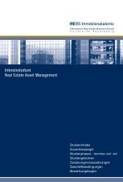 Intensivstudium Real Estate Asset Management