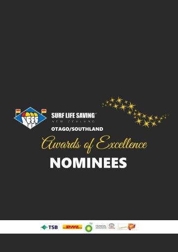 2020 SLSNZ Otago Awards of Excellence Nominees Booklet