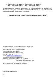 Bulletin 2003/11 - visarte zürich